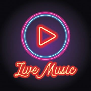 Music And Live Music Logo With Neon Light Effect Vector Music Musical Note Png And Vector With Transparent Background For Free Download Music Logo Neon Live Music