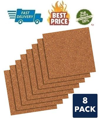 Natural Cork Tiles Cork Board 12 X 12 Corkboard Wall Bulletin Boards Pack Of 8 Fashion Home Garden Homedcor Messag In 2020 Cork Tiles Cork Board Wall Cork Board