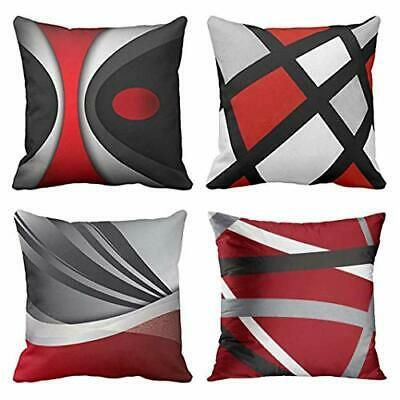 Emvency Throw Pillow Covers Red