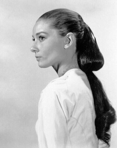 Audrey Hepburn With Long Hair Audrey Hepburn Hair Audrey Hepburn Hepburn