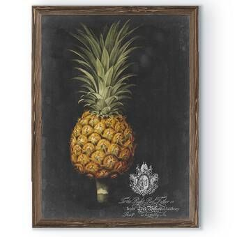 Pineapple By George Brookshaw Framed Graphic Art Painting Frames Painting Prints Canvas Frame