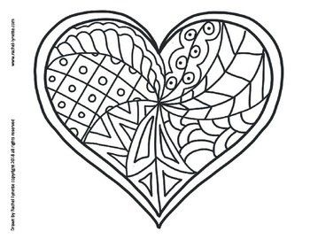 Heart Coloring Pages For Valentine 039 S Day Heart Coloring Pages Valentine Coloring Pages Coloring Pages