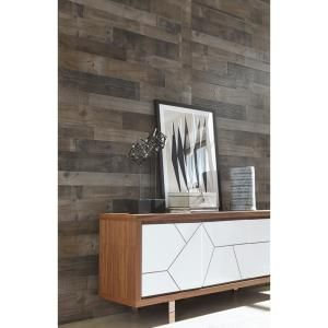 Weathered Grey Plank 32 Sq Ft Mdf Paneling 169779 Brick Wall