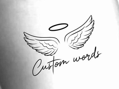 Custom Angel Wings Temporary Tattoo   Etsy