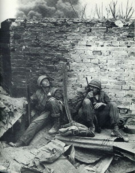 US Marines during the Tet Offensive, Hue, Vietnam 1968