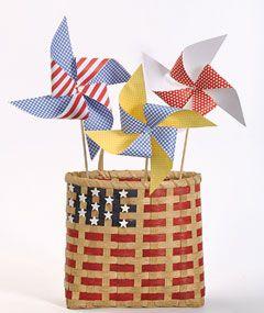 Country Sampler | Decorating Projects & Downloads | Patriotic Pinwheels