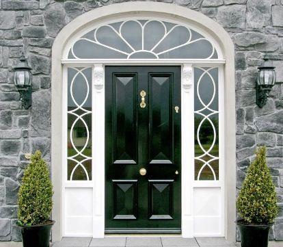 Image Result For Georgian Farmhouse Front Door Fan Light Front Door Design House Front Door Exterior Front Doors