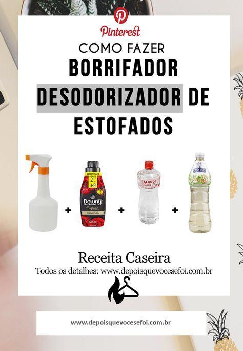 Receita Borrifador Desodorizador De Estofados Dicas De Limpeza