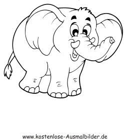 Ausmalbild Elefant 1 Kostenlos Ausdrucken Ausmalen Elefant Ausmalbilder