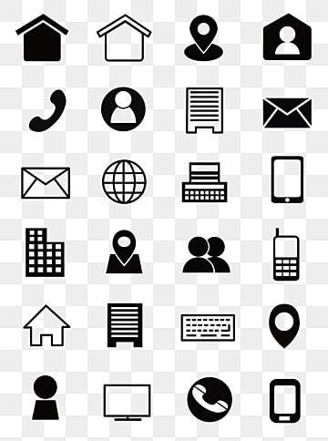 Icone De Carte De Visite En Noir Et Blanc Coordonnees Icones En Noir Et Blanc Icone Informations De Contact Png Et Vecteur Pour Telechargement Gratuit In 2021 Vector Icons Free Vector