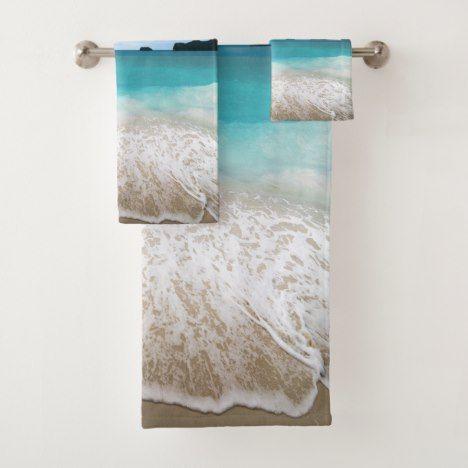 Tranquil Sea Beach Themed Bath Towel Set Bathroom Towel Decor