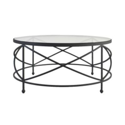 Sullivan Gl Top Iron Round Coffee Table 90cm Ideas For