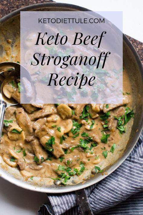 Low Carb Keto Recipe For Beef Stroganoff Beefstroganoffrecipe Ketomeal Lowcarbmeal Beefstroganoffrecip Keto Beef Recipes Beef Stroganoff Stroganoff Recipe