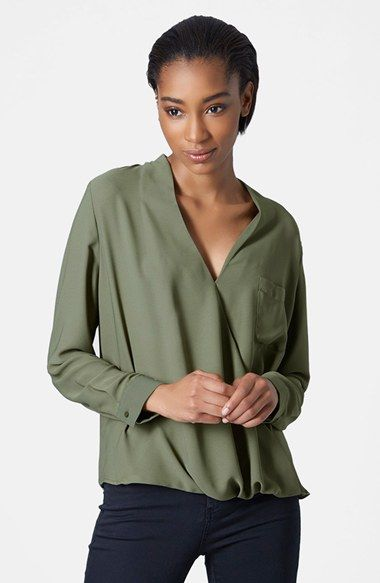 e1abc45ac13e01 Topshop Surplice Pocket Blouse available at #Nordstrom | Threads ...