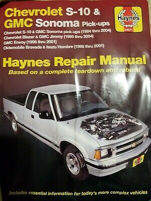 Advertisement Ebay Haynes Repair Manual 24071 Chevy S 10 Gmc Sonoma 1994 2004 Blazer Jimmy 1995 04 In 2020 Repair Manuals Gmc Chevrolet S 10