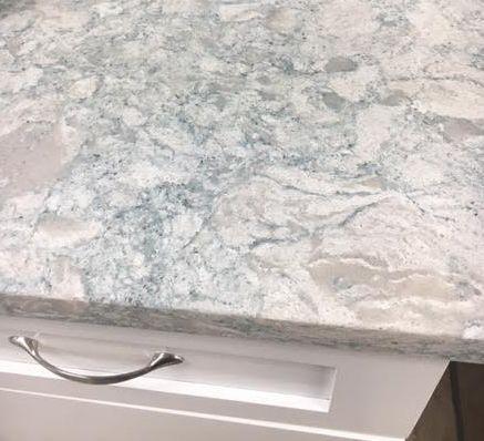 Seasalt Quartz Kitchen Counter Top Blue And Gray Veins In White