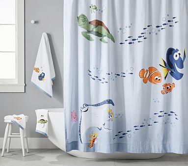 Disney And Pixar Finding Nemo Shower Curtain In 2020 Finding Nemo Bathroom Decor Finding Nemo Bathroom Nemo Bathroom