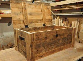 Reclaimed Wood Storage Chest Wood Storage Wood Chest Storage Chest