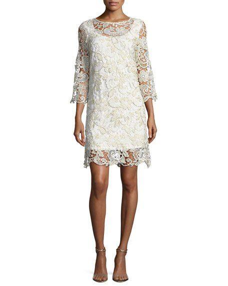 Marina Metallic Lace Bell Sleeve Dress Plus Size Short Dresses Plus Size Cocktail Dresses Plus Size Wedding Guest Dresses