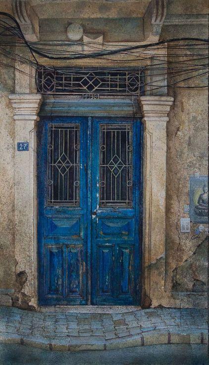 Old blue doors | Antique doors, Gorgeous doors, Vintage doors