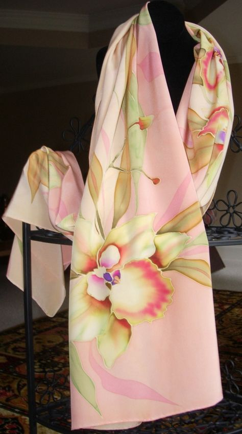 Personalized Pink Floral Vine Sheer Sarong