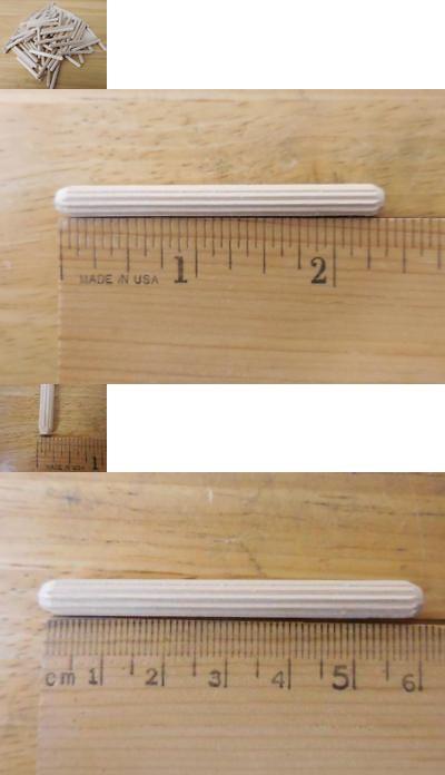 Wood Fluted Dowel Rods Pins 2 3 8 X 1 4 6mm X 60mm Qty 50 1000 Ebay Flute Dowels Wood