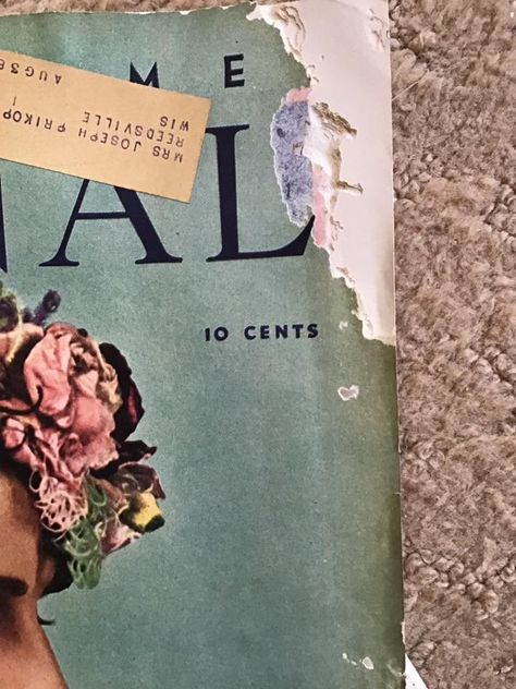 Vintage 1930's Magazine (Dated April 1936) Ladies Home Journal Advertising/Articles/Fashion Has Condition Issues Sold As Is!!