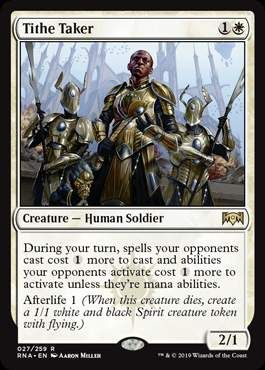 Mtg Ravnica Allegiance Orzhov Mechanic And Cards Revealed Mtg Magic The Gathering Tithing Despite being the most religious of the guilds, they are arguably the least spiritual guild on ravnica. mtg ravnica allegiance orzhov mechanic