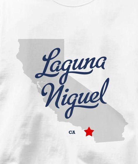 Laguna Niguel California Ca Map Souvenir T Shirt All Sizes Colors