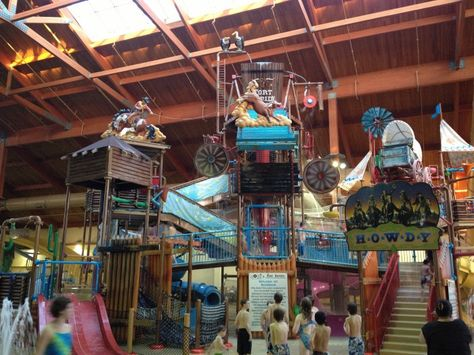 Fort Rapids Indoor Water Park is fun for the whole family. The indoor water park has features that are enjoyable for all ages.