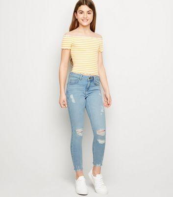 Mid Blue Women`s New Look Skinny Stretch Mid Waist Jeans Size UK 20 Regular