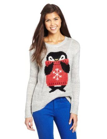 Jolt Juniors Penguin Pullover, Heather Grey, X-Large | Shirts and ...