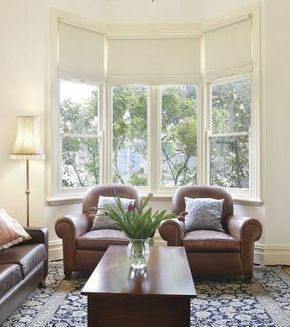 Clean And Simple Bay Window Blinds Blinds For Windows Bay Window