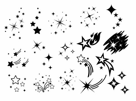 Shooting Star Tattoo, Shooting Stars, Shooting Star Drawing, Small Star Tattoos, Best Star Tattoos, Star Foot Tattoos, Wing Tattoos, Skull Tattoos, Tattoo Drawings