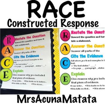 Race Poster Sentence Stems Constructed Response This Or That