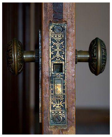 antique door locks plates