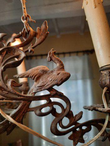 Lampadari e piantane forgiate a mano in ferro battuto. Pin Su Lampadario Ferro Battuto Fine 800