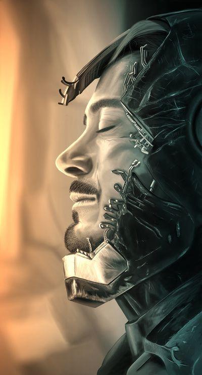 Fallen Hero - art by Richard Eijkenbroek #marvel #superhero #ironman #cosplay