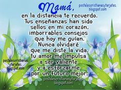 Mama En La Distancia Te Recuerdo Frases Para Mi Madre Que Esta