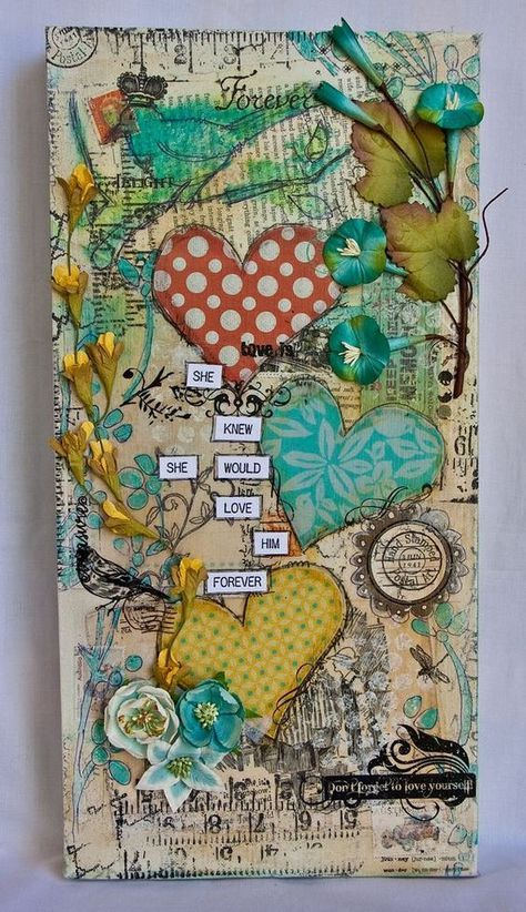 60 Easy Crafts To Make And Mixed Media Canvas Art