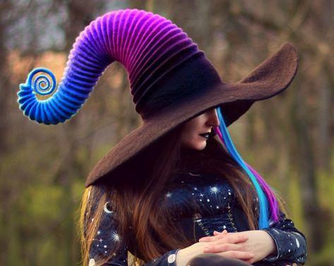 Halloween Costume Hat. Witch Hat. Wizard Hat. Fantasy Hat. | Etsy