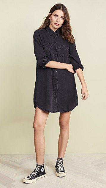 Madewell Denim Shirtdress | Denim shirt dress, Black shirt dress ...