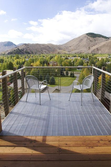 Design Workshop Put Industrial Mesh To Work Around The Home Metal Deck Patio Building A Deck