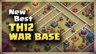 New Best TH12 Anti 3 Star War Base | TH12 War Base #03