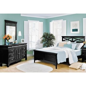 american signature furniture plantation cove black bedroom 5 pc queen bedroom