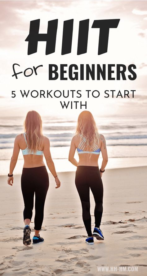 HIIT Workouts for beginners to lose weight! These are 5 beginner-friendly high intensitiy interval training routines that you can do at home or at the gym. HIIT is a type of exercise that allows you to burn fat even after you've done. Hiit At Home, Hiit Workout At Home, Hitt Workout, At Home Workouts, Workout Plans, Workout Diet, Dumbbell Workout, Exercise Plans, Hit Exercise