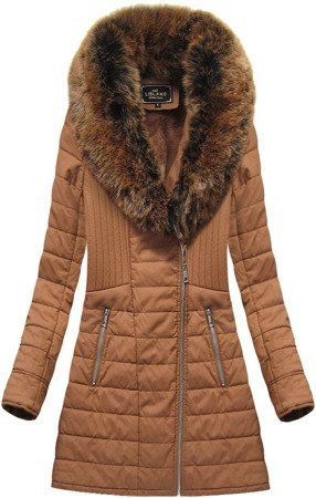 Zimowy Plaszcz Damski Z Futerkiem Rudy Ld5520big Brown Winter Coat Coat Winter Coat