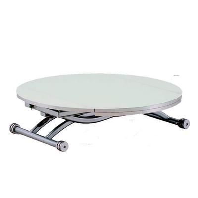 Table Basse Relevable Ronde Colombia Blanc Table Basse Relevable Table Basse Relevable Extensible Table Basse