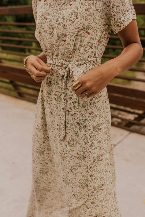 Floral Wrap Maxi - Modest Summer Dresses | ROOLEE