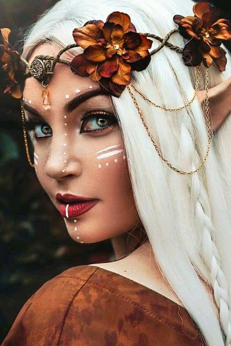 Fantasy Makeup Ideas to Learn What its Like to Be in the Spotlight ★ See more Fantasie-Make-up-Ideen, um zu erfahren, wie es ist, im Rampenlicht [. Elf Makeup, Costume Makeup, Makeup Art, Eyeliner Makeup, Eyeliner Ideas, Cheer Makeup, Night Makeup, Cosplay Makeup, Makeup Geek